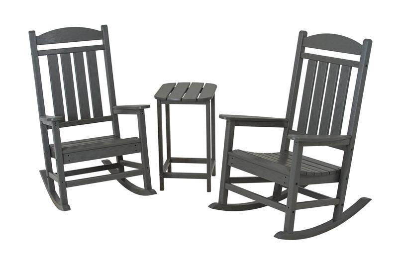 Polywood Rocker Set Slate Grey Presidential