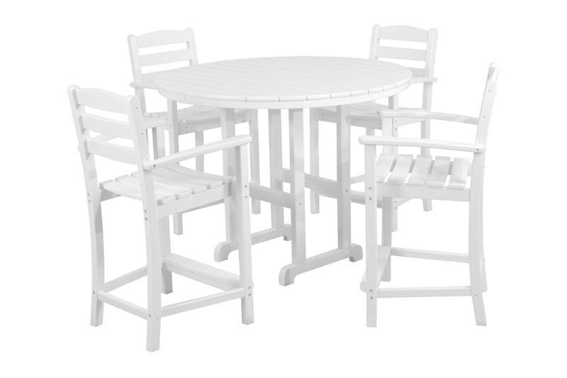 Polywood Casa CafEacute Counter Set White 1795