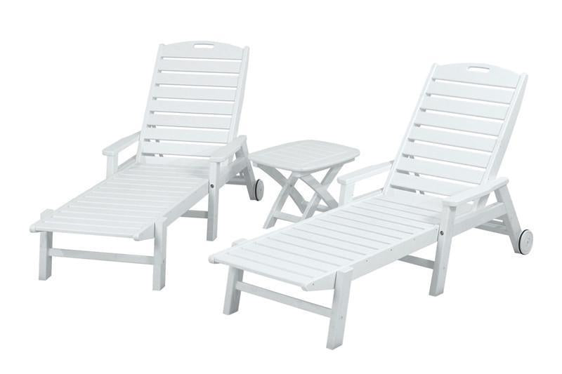 Polywood Chaise Set White 5057