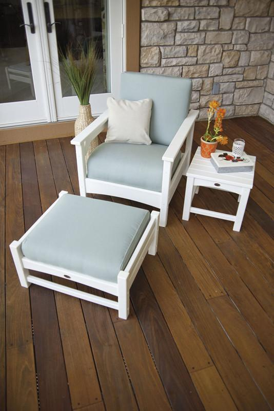 Polywood Deep Seating Set White Spa 5341