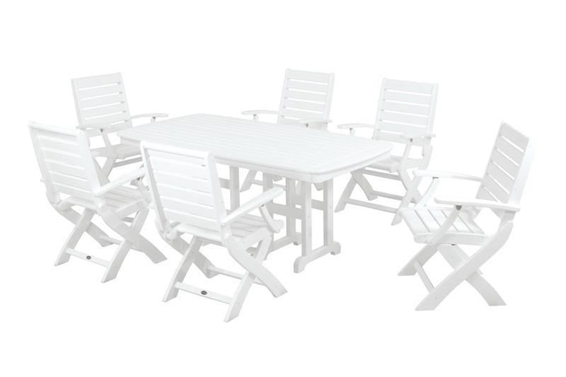 Polywood Dining Set White 564
