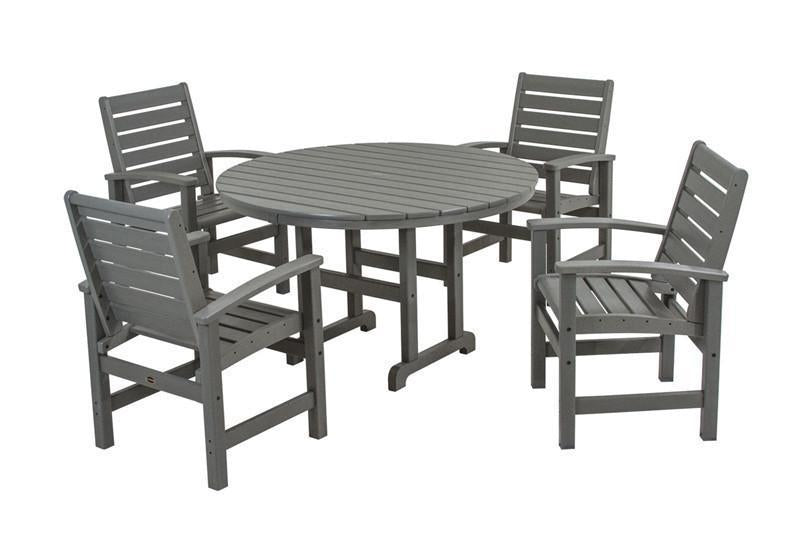 Dining Set Slate Grey Signature - Polywood Set Image