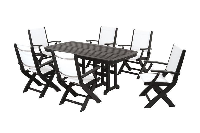 Furniture Dining Lack White Sling Coastal Photo