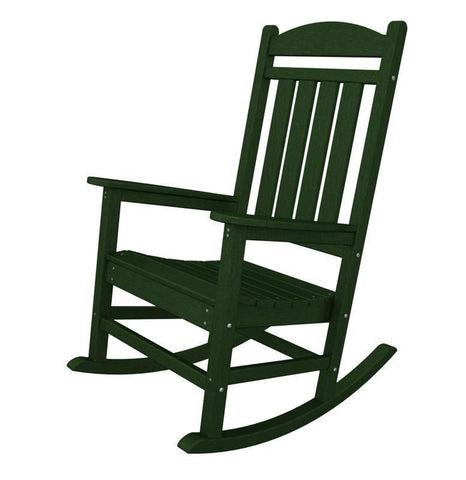 Polywood R100GR Presidential Rocker in Green - PolyFurnitureStore