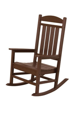 Polywood R100MA Presidential Rocker in Mahogany - PolyFurnitureStore