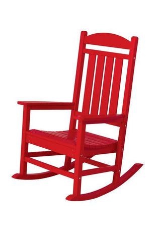 Polywood R100SR Presidential Rocker in Sunset Red - PolyFurnitureStore
