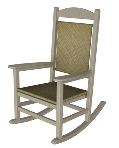 Polywood R200FSASG Presidential Woven Rocker in Sand Frame / Seagrass - PolyFurnitureStore