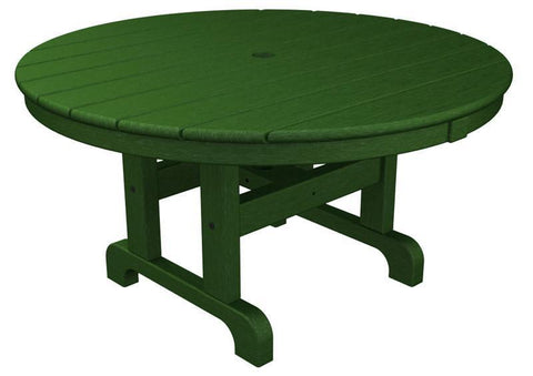 "Polywood RCT236GR Round 36"" Conversation Table in Green - PolyFurnitureStore"