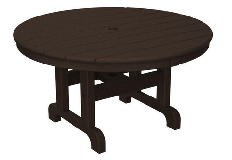 "Polywood RCT236MA Round 36"" Conversation Table in Mahogany - PolyFurnitureStore"
