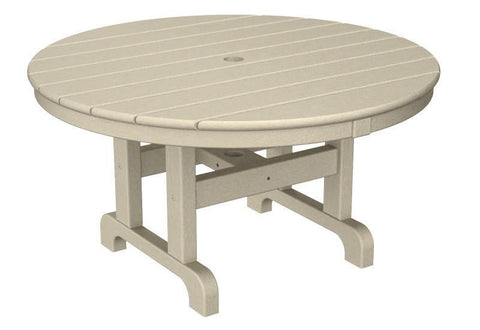 "Polywood RCT236SA Round 36"" Conversation Table in Sand - PolyFurnitureStore"