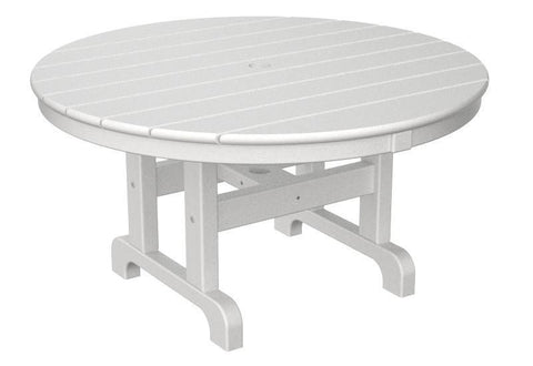 "Polywood RCT236WH Round 36"" Conversation Table in White - PolyFurnitureStore"