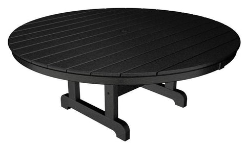 "Polywood RCT248BL Round 48"" Conversation Table in Black - PolyFurnitureStore"