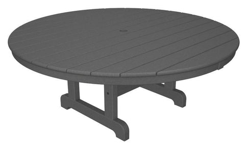 "Polywood RCT248GY Round 48"" Conversation Table in Slate Grey - PolyFurnitureStore"
