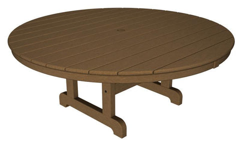 "Polywood RCT248TE Round 48"" Conversation Table in Teak - PolyFurnitureStore"
