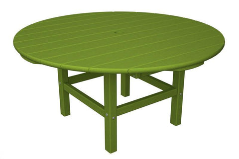 "Polywood RCT38LI Round 38"" Conversation Table in Lime - PolyFurnitureStore"