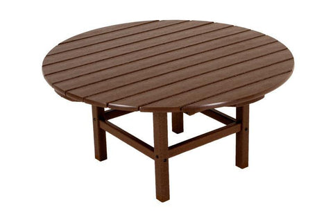 "Polywood RCT38MA Round 38"" Conversation Table in Mahogany - PolyFurnitureStore"