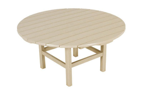 "Polywood RCT38SA Round 38"" Conversation Table in Sand - PolyFurnitureStore"