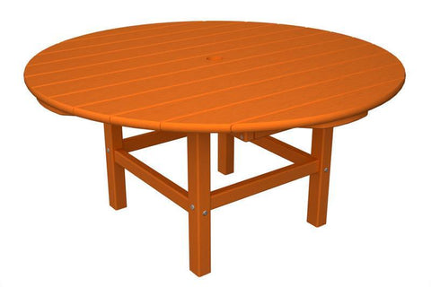 "Polywood RCT38TA Round 38"" Conversation Table in Tangerine - PolyFurnitureStore"