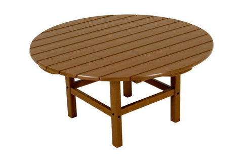 "Polywood RCT38TE Round 38"" Conversation Table in Teak - PolyFurnitureStore"