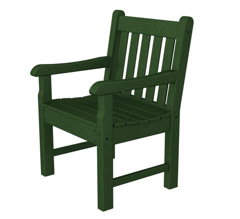 Polywood RKB24GR Rockford Garden Arm Chair in Green - PolyFurnitureStore