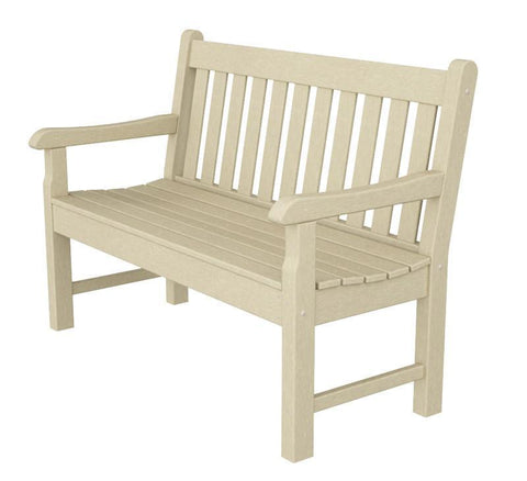 "Polywood RKB48SA Rockford 48"" Bench in Sand - PolyFurnitureStore"