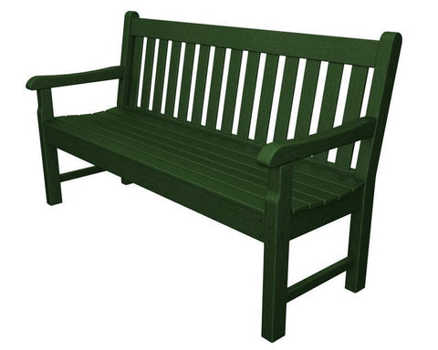 "Polywood RKB60GR Rockford 60"" Bench in Green - PolyFurnitureStore"