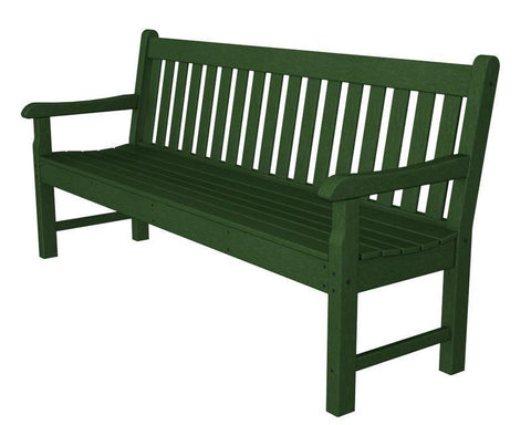 "Polywood RKB72GR Rockford 72"" Bench in Green - PolyFurnitureStore"