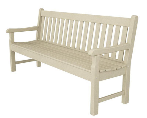 "Polywood RKB72SA Rockford 72"" Bench in Sand - PolyFurnitureStore"
