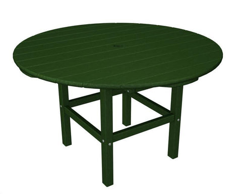 "Polywood RKT38GR 38"" Kids Dining Table in Green - PolyFurnitureStore"