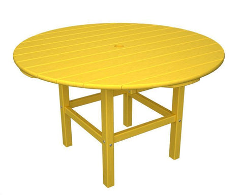 "Polywood RKT38LE 38"" Kids Dining Table in Lemon - PolyFurnitureStore"