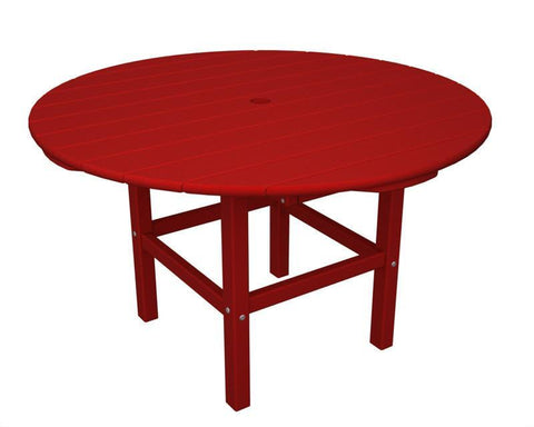 "Polywood RKT38SR 38"" Kids Dining Table in Sunset Red - PolyFurnitureStore"