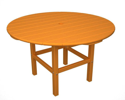 "Polywood RKT38TA 38"" Kids Dining Table in Tangerine - PolyFurnitureStore"
