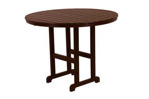 "Polywood RRT248MA Round 48"" Counter Table in Mahogany - PolyFurnitureStore"