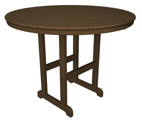 "Polywood RRT248TE Round 48"" Counter Table in Teak - PolyFurnitureStore"