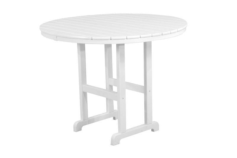 Polywood Counter Table White Round Table Image