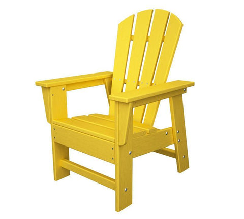 Polywood SBD12LE Kids Casual Chair in Lemon - PolyFurnitureStore