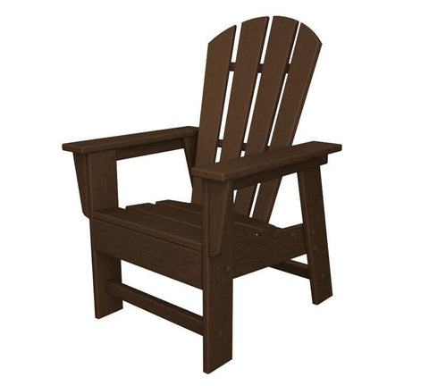 Polywood SBD12MA Kids Casual Chair in Mahogany - PolyFurnitureStore