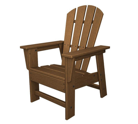 Polywood SBD12TE Kids Casual Chair in Teak - PolyFurnitureStore