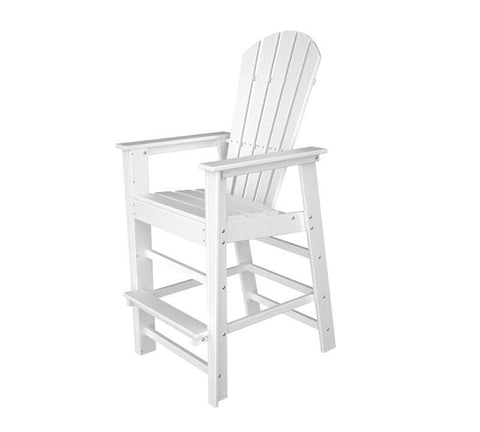 Polywood SBD30WH South Beach Bar Chair in White - PolyFurnitureStore