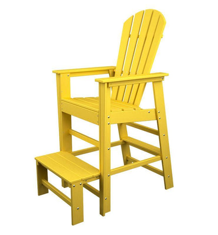 Polywood SBL30LE South Beach Lifeguard Chair in Lemon - PolyFurnitureStore