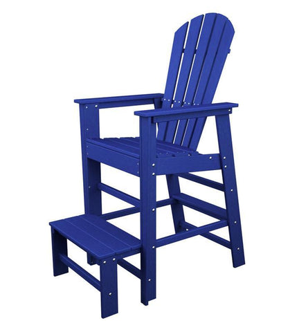 Polywood SBL30PB South Beach Lifeguard Chair in Pacific Blue - PolyFurnitureStore
