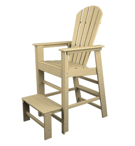Polywood SBL30SA South Beach Lifeguard Chair in Sand - PolyFurnitureStore