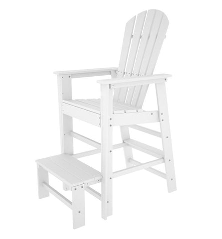 Polywood SBL30WH South Beach Lifeguard Chair in White - PolyFurnitureStore
