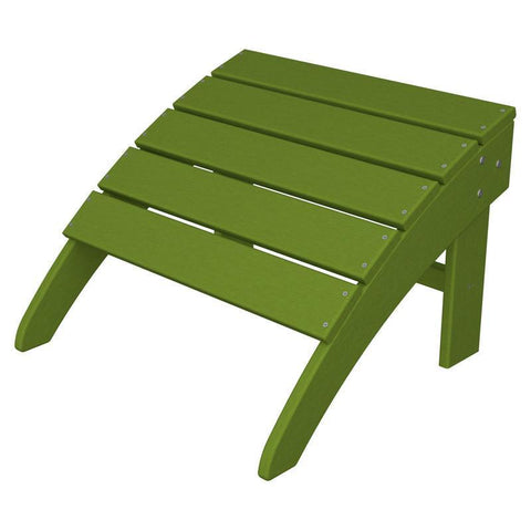 Polywood SBO22LI South Beach Adirondack Ottoman in Lime - PolyFurnitureStore