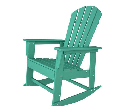 Polywood SBR16AR South Beach Rocker in Aruba - PolyFurnitureStore