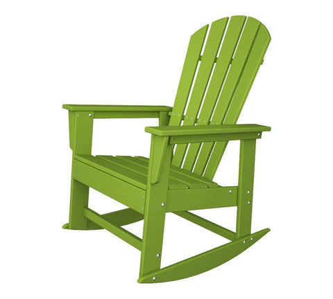 Polywood SBR16LI South Beach Rocker in Lime - PolyFurnitureStore