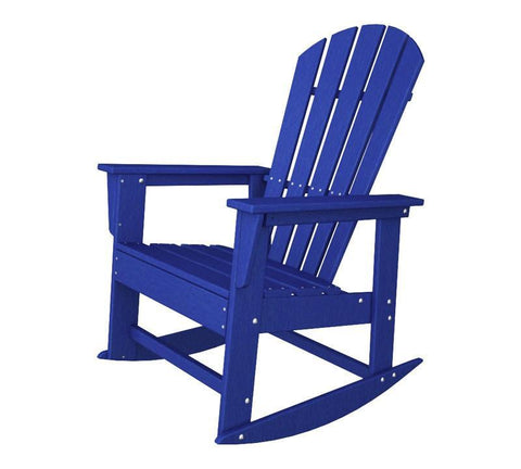 Polywood SBR16PB South Beach Rocker in Pacific Blue - PolyFurnitureStore