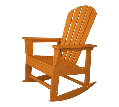 Polywood SBR16TA South Beach Rocker in Tangerine - PolyFurnitureStore