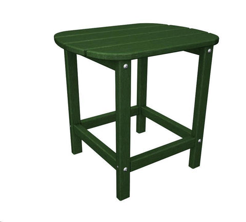 "Polywood SBT18GR South Beach 18"" Side Table in Green - PolyFurnitureStore"