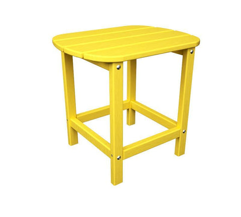 "Polywood SBT18LE South Beach 18"" Side Table in Lemon - PolyFurnitureStore"